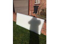 4 white/bronze polycarbonate sheets, £10