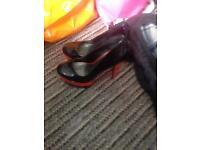 Black n red high heels