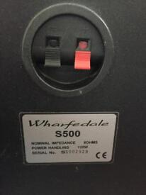 Wharfedale S500 speakers with cable
