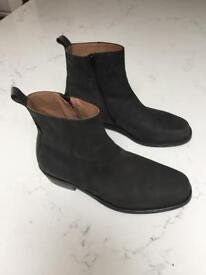 Russell and Bromley men's black boots worn once