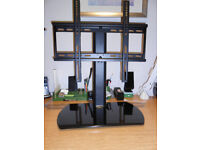 "Stylish Fitueyes Universal TV Monitor Stand Pedestal Base fits most 32""-60"" LCD LED Plasma TVs"