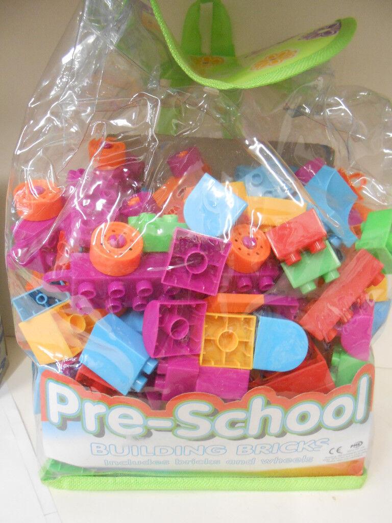 Bag of Building Bricks (Pre School) New