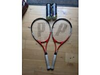 Two PRINCE TENNIS racquets plus FREE tennis balls included