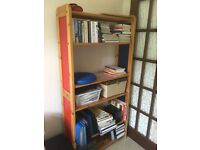 Solid Pine Shelving/ Library unit