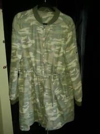 Woman's camo coat