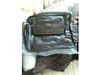 cotton traders leather patchwork travel bag
