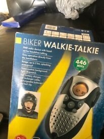 Motorbike walkie talkies