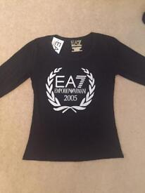 Brand new Ladies EA7 Armani Top Size Small & Large Available