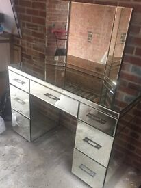 'Next' Mirrored dressing table - hardly used - excellent condition - priced to sell
