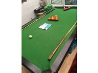 Pool and snooker table
