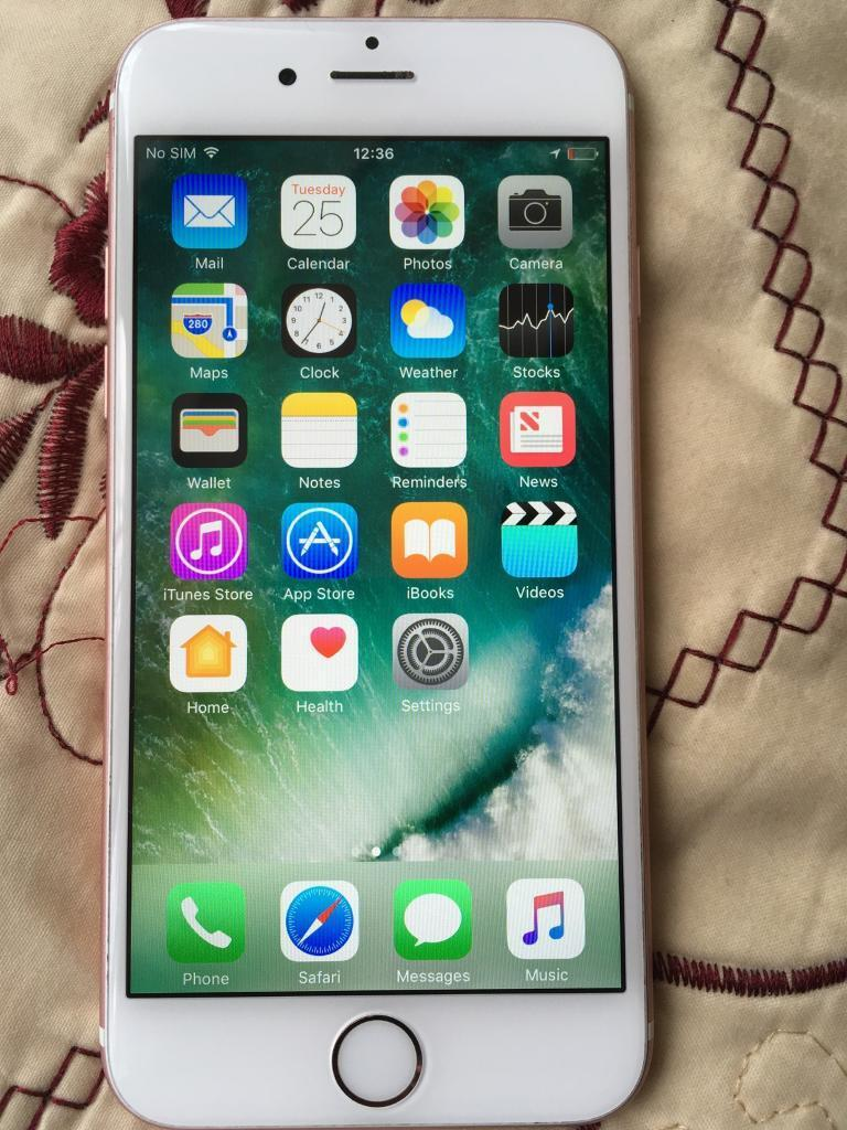 iPhone 6s 64gb unlocked rose goldin Hodge Hill, West MidlandsGumtree - iPhone 6s 64gb rise gold unlocked mint condition 1 chip on Housing By headphone see photos Touch ID not working no timewasters cash only