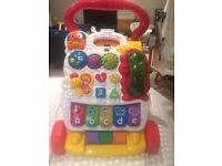 VTECH WALKER WITH GREEN PHONE