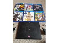 PS4 Game Bundle with wireless charging pad