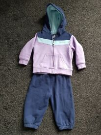 3 girls tracksuits age 6-12 mths