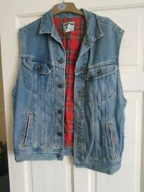 Lee denim sleeveless denim jacket