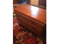 chest of drawers top is scratched butcan be sandered and re done id say