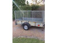 IFOR WILLIAMS CAGED UTILITY / GENERAL PURPOSE TRAILER - 8ft x 4ft - GOOD CONDITION!