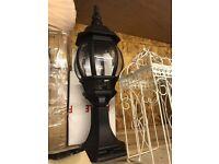 Black wall top pillar lamps
