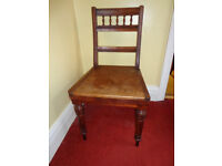 Small solid oak Victorian chair