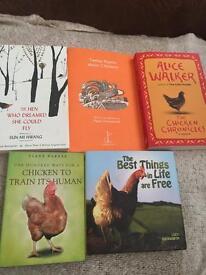Joblot of 5 chicken books