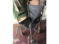 Lightweight wheelchair with brakes. Very good condition. Folds for car boot