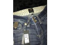 New River Island jeans size 8S