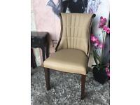 New Leather Occasional Chair