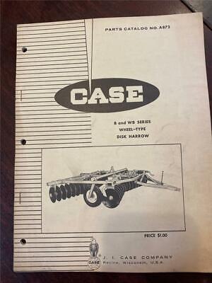 Vintage Case Model B Wb Series Wheel-type Disk Harrow Parts Catalog A872 0167
