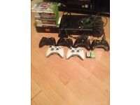 Black Xbox Elite 120gb with all cables including hdmi cable, charger kit and wireless adapter.