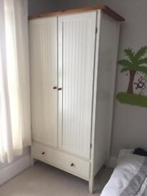 Wardrobe and tall chest of drawers