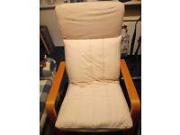 Cream IKEA poang chair