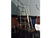 4m alloy tower new wood plank