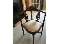 Chair - Antique mahogany occasional chair