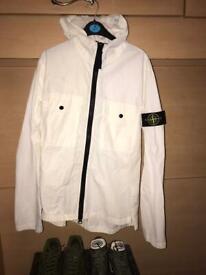 Men's medium stone island waterproof jacket