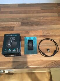 Fitbit Surge - Smart Watch with Heart Rate Monitor - Black