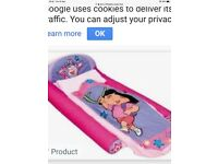 Dora the explorer 1st ready bed. Blow up bed