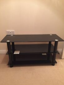 Bran new black glass tv stand