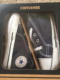 Brand new Converse Navy size 4 Baby/toddler soft shoe