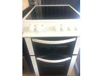 LOGIK 50cm WIDE ELECTRIC COOKER CERAMIC TOP DOUBLE OVEN WITH GRILL FREE DELIVERY AND WARRANTY