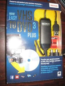 Roxio Easy VHS to DVD 3 Plus. Transfer video from VHS, Hi8, V8 or analog camcorder to PC Computer Desktop Laptop. NEW
