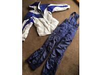 Ski jacket and salopettes