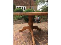 Solid Pine 4 ft Table. Very thick, solid wood which looks great.