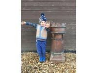 Large Victorian Chimney/Garden Planter for Gardens and Patios