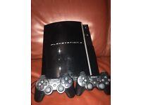 PS3 40gb Black plus lots of GAMES