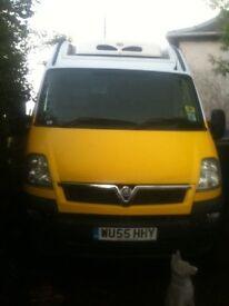 movano van, fridge and freezer compartments