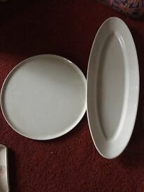 2 x serving dishes pillivuyt dishes