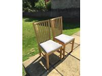 Two Ikea Contemporary Chairs, Pre-owned In Excellent Condition