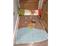 Mamas and papas curtain and cot set