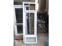 WHITE UPVC DOOR WITH OPENER WINDOW ABOVE