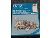 Ford Fiesta owners workshop manual